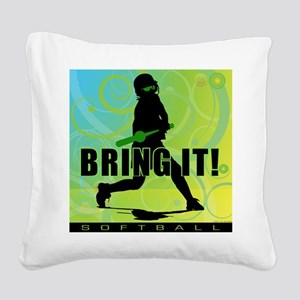 2011 Softball 102 Square Canvas Pillow