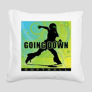 2011 Softball 27 Square Canvas Pillow