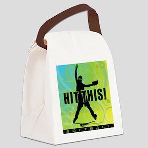 2011 Softball 96 Canvas Lunch Bag
