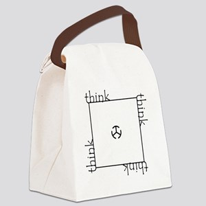 Think outside the box! Canvas Lunch Bag