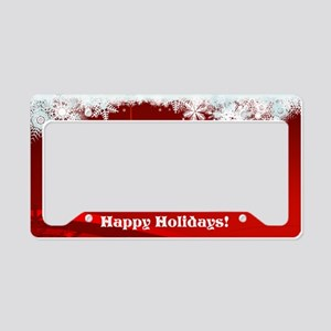 Snowflakes License Plate Holder