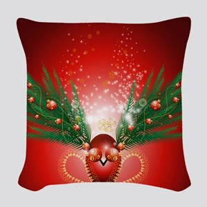 Christmas Woven Throw Pillow