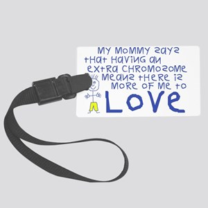 Awareness tee More 2 Love mommy Large Luggage Tag
