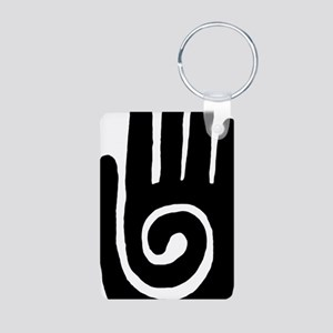 hopi-hand-spiral-tribal Aluminum Photo Keychain