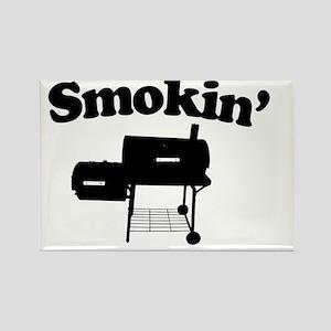 Smokin - SMoker BBQ Rectangle Magnet