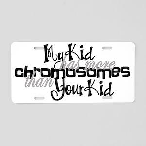 Awareness tee more chromoso Aluminum License Plate