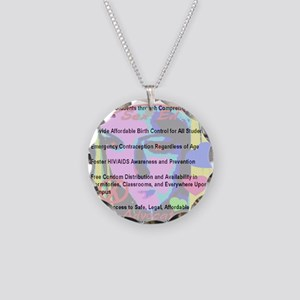 sex_ed_advocate_7goals_backp Necklace Circle Charm