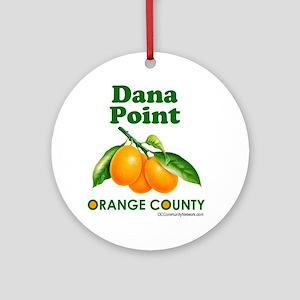 dana-point-design Round Ornament
