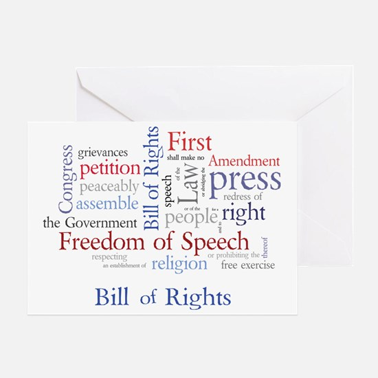 Freedom of Speech: First Amendment Greeting Card