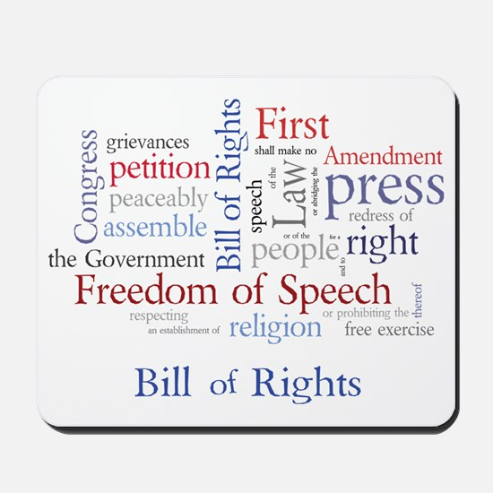Freedom of Speech: First Amendment Mousepad