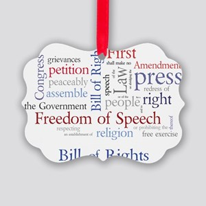 Freedom of Speech: First Amendmen Picture Ornament