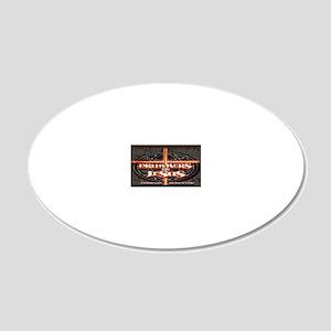 New DFJ Logo 20x12 Oval Wall Decal