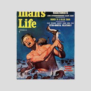 MANS LIFE, Sept. 1956 Throw Blanket