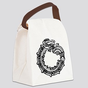 aztec-ouroboros-serpent-circle Canvas Lunch Bag