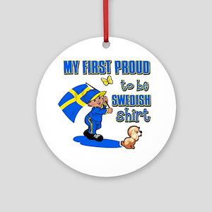 swedish Round Ornament
