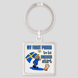 swedish Square Keychain