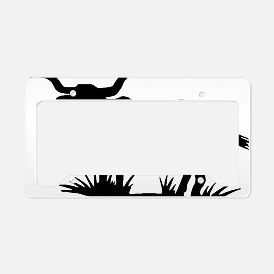 longhorn-silhouette License Plate Holder