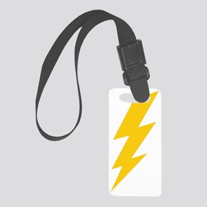 thunder-bolt-plain-hi Small Luggage Tag