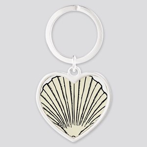 scallop_shell Heart Keychain