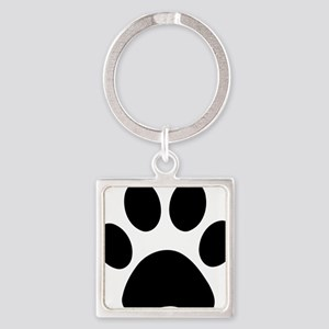 paw-print Square Keychain