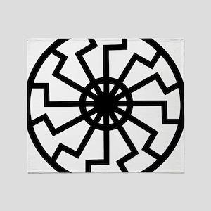 vril-black-sun-emblem Throw Blanket