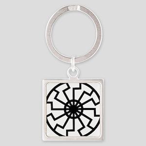 vril-black-sun-emblem Square Keychain