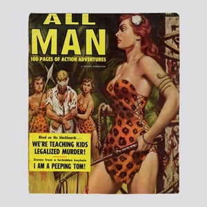 ALL MAN, May 1959 Throw Blanket
