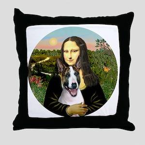J-ORN-Mona-BullT-9 Throw Pillow