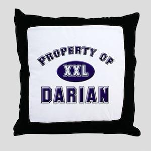 Property of darian Throw Pillow