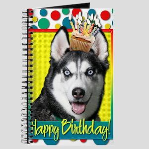 BirthdayCupcakeSiberianHusky Journal