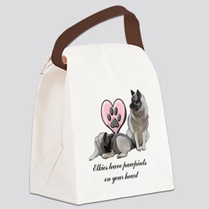 elkie pawprints Canvas Lunch Bag