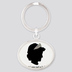 Diana-Design-Smaller Oval Keychain