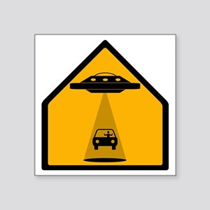 "Abduction Zone Square Sticker 3"" x 3"""