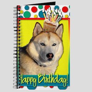 BirthdayCupcakeSiberianHuskyCopper Journal