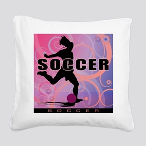 soccer-girls2 Square Canvas Pillow