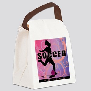 soccer-girls2 Canvas Lunch Bag