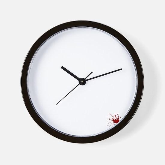 No_More_War_(on-black) Wall Clock