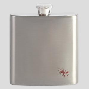 No_More_War_(on-black) Flask