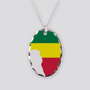 africa_reggae Necklace Oval Charm
