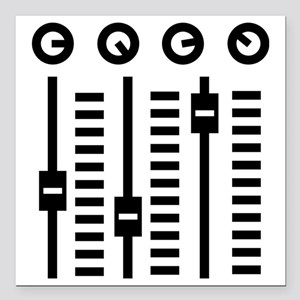 """mixing_console Square Car Magnet 3"""" x 3"""""""