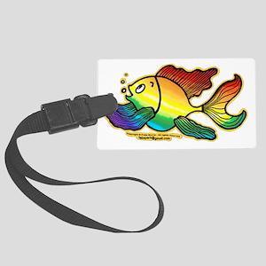 Rainbow Fish Large Luggage Tag