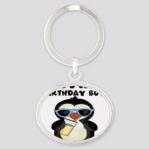 birthday boy coolest Oval Keychain