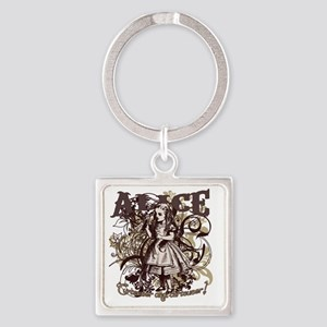 alice-flourishes Square Keychain