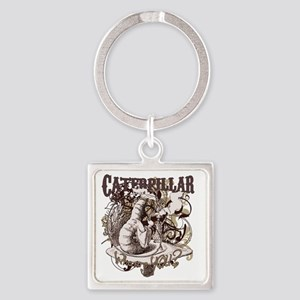 caterpillar-flourishes Square Keychain