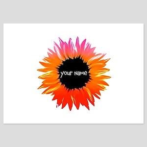 Pink-Orange Flower Invitations