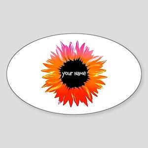 Pink-Orange Flower Sticker