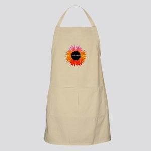 Pink-Orange Flower Apron