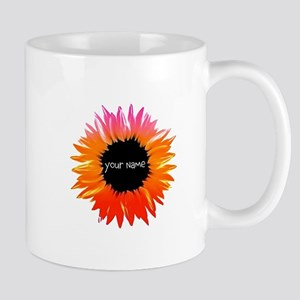 Pink-Orange Flower Mugs