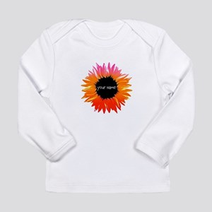 Pink-Orange Flower Long Sleeve T-Shirt