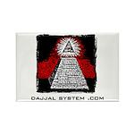 Dajjal System .com Rectangle Magnet (10 pack)